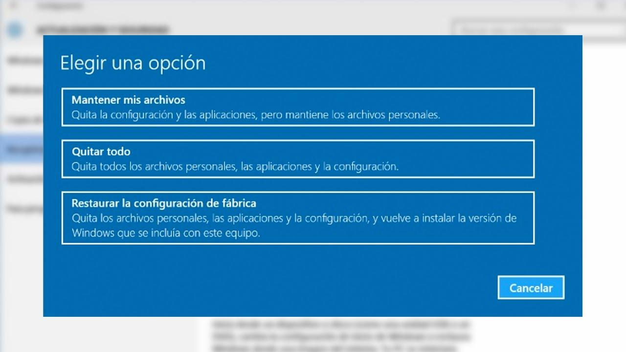 Cómo formatear tu PC y poner Windows 10