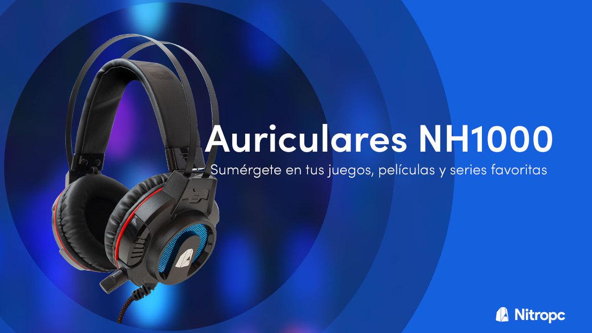 NH1000 de Nitropc: el headset gaming que buscabas.