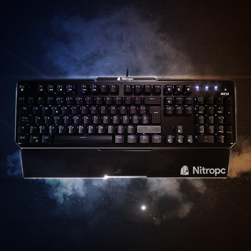 NK10 teclado óptico mecánico nitropc