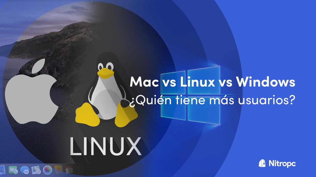 Windows vs Mac vs Linux ¿Cuántos usuarios tienen?